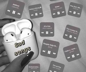 like, music, and sad image