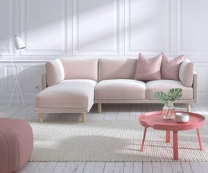 couch, decor, and pink image