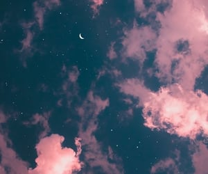 background, moon, and sky image
