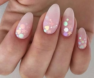 nails, pretty, and sparkle image