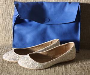 blue, flats, and shopping image