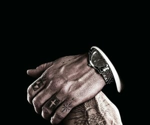 hands, man, and tattoo image