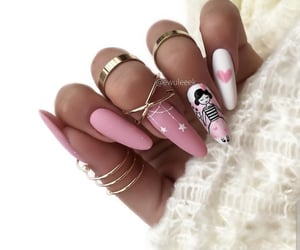 almond, gold, and nails image