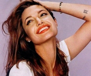 Angelina Jolie, smile, and angelina image