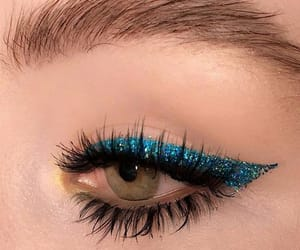 makeup, blue, and style image