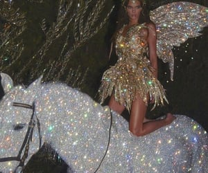 aesthetic, glitter, and horse image