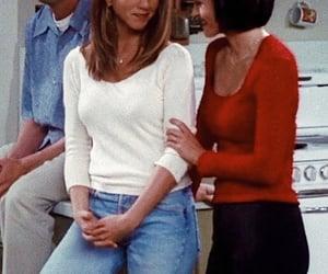 Courteney Cox, Jennifer Aniston, and rachel green image