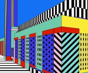art, stripes, and geometric image