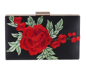 clutch, prom bag 2020, and floral embroidered bag image