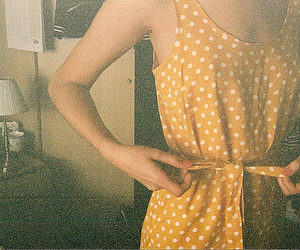 dress, girl, and vintage image