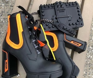 shoes, boots, and Prada image
