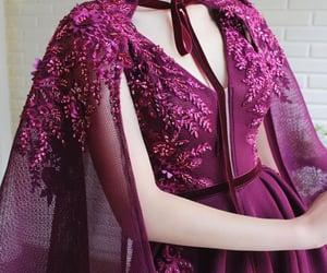 dress, long, and mauve image