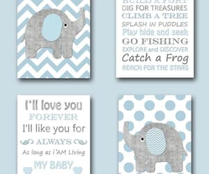 etsy, gray blue, and quotes art image