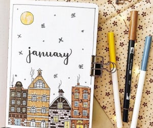 city, Houses, and january image