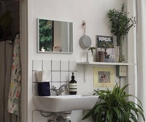 bathroom, plants, and room image