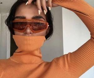 orange, sunglasses, and style image