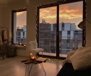apartment, fairy lights, and piso image