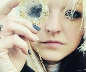 blonde, false eyelashes, and luxury image