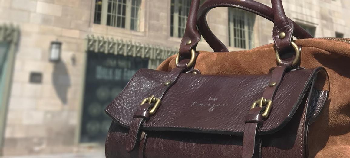 article, italian leather bag, and leather handbag image