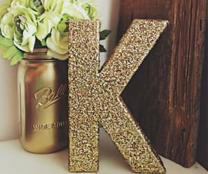 K, nom, and letters image