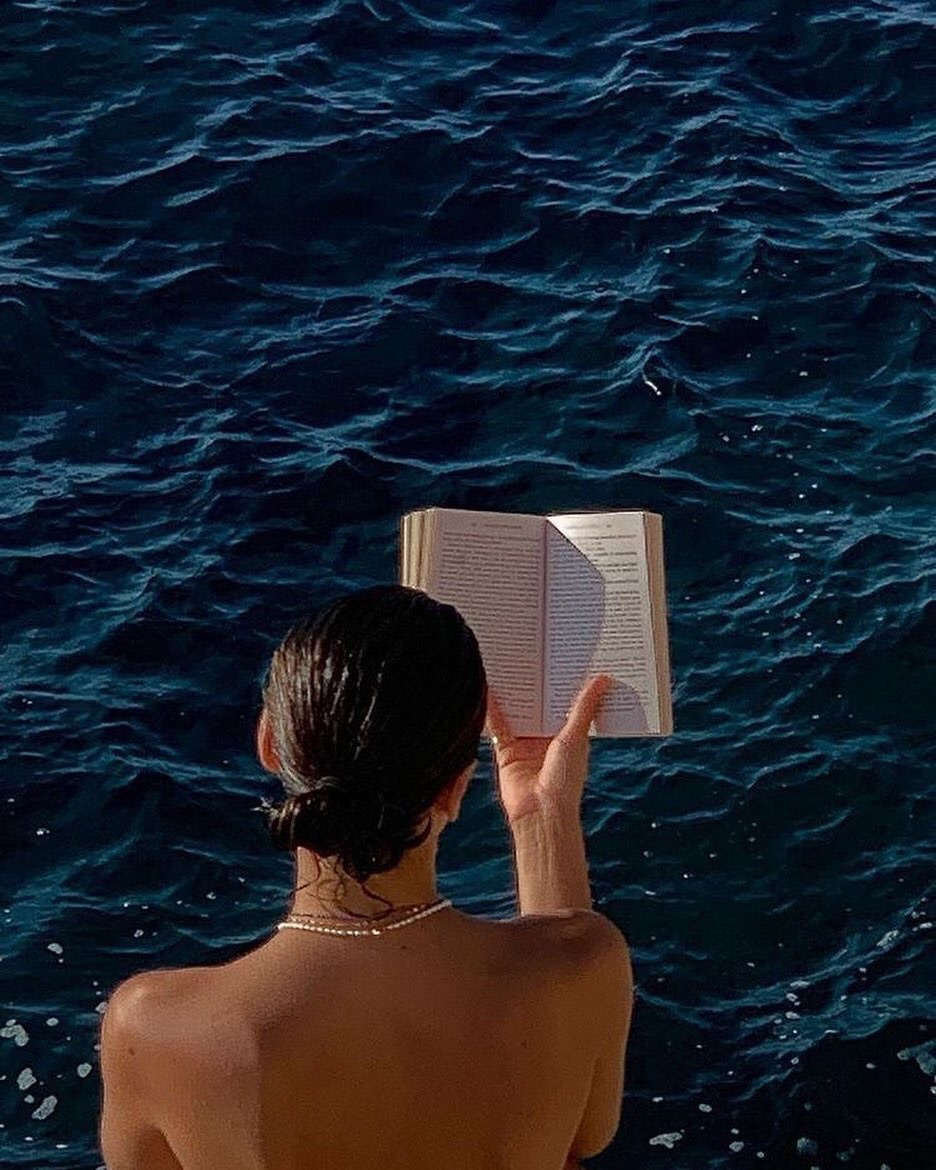 book, summer, and ocean image