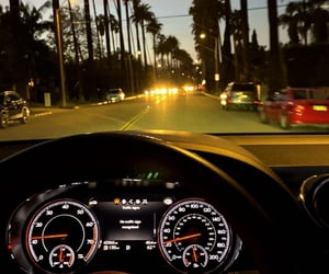 car, drive, and evening image