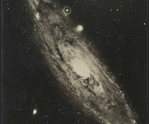 galaxy, stars, and vintage image
