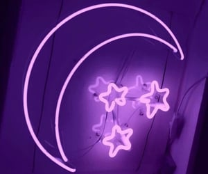 moon, stars, and purple image