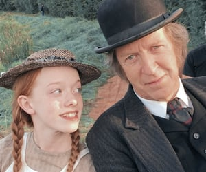 anne with an e, anne shirley, and matthew cuthbert image