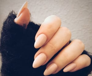 nails, Nude, and black image
