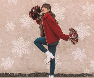 boots, red, and cheerleading image