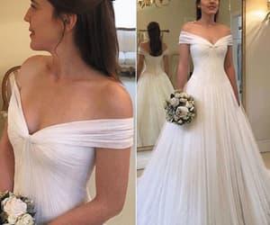 wedding gowns, simple wedding dress, and vestido de novia image