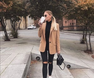 black jeans, blonde hair, and outfits image