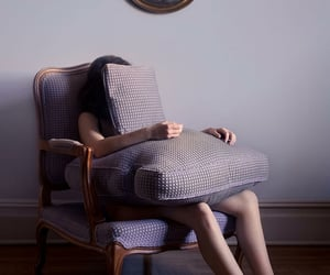 chairs, hiding, and cushions image