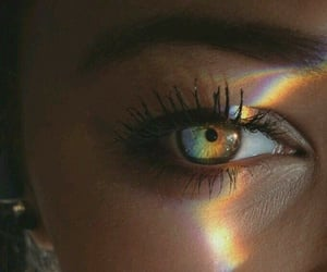 arcoiris, chicas, and eyes image