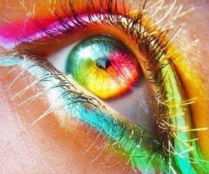 colorful art, beautiful eye, and eye image