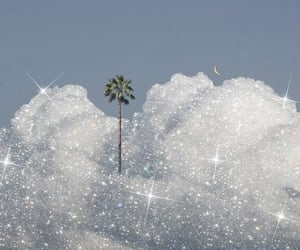 aesthetic, clouds, and glitter image