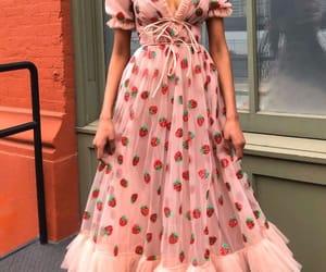 fashion, dress, and strawberry image