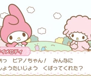 my melody, pink, and sanrio image