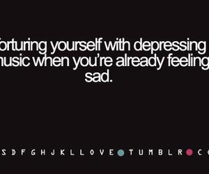 text, music, and sad image