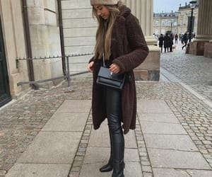 blogger, brown, and fashion image
