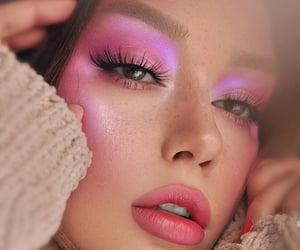 beautiful, make up, and purple image