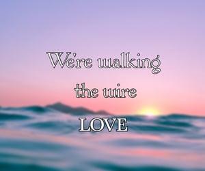 Lyrics, song, and sunset image