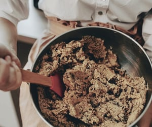 aesthetic, baking, and cookie dough image