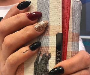 bag, nail art, and nail polish image