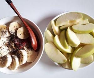 apples, bananas, and food image