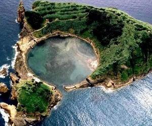 Island, nature, and sea image