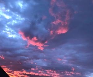 aesthetic, cloud, and orange image