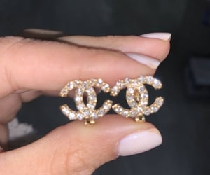 chanel and earrings image