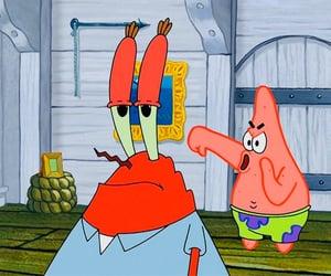 mr. krabs, patrick, and spongebob squarepants image